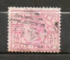 AUSTRALIE (Victoria)  1/2p Rose 1886-88 N°95 - Used Stamps