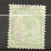 AUSTRALIE (Victoria)  1p Vert 1886-88 N°96 - Used Stamps