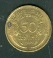 France 50 Centimes Morlon Bronze  1939  - Laura9107 - G. 50 Centimes
