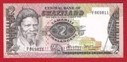 SWAZILAND  P8a  2 EMALANGENI (1983) Signature 2  UNC. - Swaziland