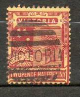 AUSTRALIE (Victoria)  2 1/2p Rouge Jaune 1890-98 N°104 - Used Stamps