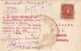 Venezuela, ZARAZA, Reconstruccion, Fotokarte 1927 Gel.n. Mannheim, Orig.Frankierung - Venezuela
