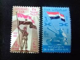 YEMEN YAR      RECUERDO DEL 26 SEPTIEMBRE 1962 Yvert &Tellier  Nº 42 /43  ** MNH - Yemen