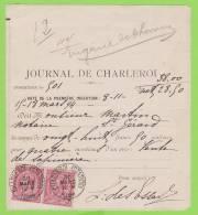 "46 (2) - Document ""Journal De Charleroi"" > St. Gérard - 1884-1891 Léopold II"