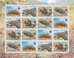 m13101c Mozambique 2013 WWF Pangolin 4sets m/s Smutsia temmincki