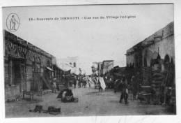 CPA DJIBOUTI Colonies Francaises Village - Gibuti