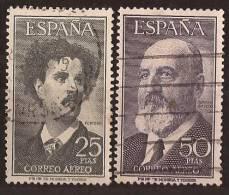 ES1164-L2907TARSC.Espagne . Spain.Espagne.FORTUNY (pintor) Y T. QUEVEDO (escritor).1955/6 (Ed 1164/51º) Circulados LUJO - Arte