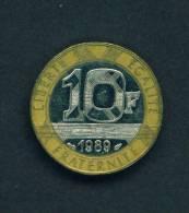 FRANCE  - 1989 10f Circ - K. 10 Francs