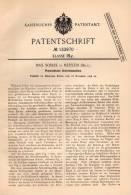 Original Patentschrift - Max Soblik In Merxem , 1898 , Pneumatische Schreibmaschine !!! - Machines