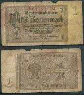 GERMANY 1937 1 RENTENMARK P173 -G - [ 4] 1933-1945 : Troisième Reich