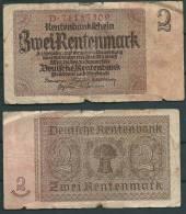 GERMANY 1937 2 RENTENMARK P174 -G - [ 4] 1933-1945 : Troisième Reich