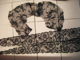 Lot De 3 Chutes Dentelle Noire Long 102cm-87cm-+autre Morceau- - Laces & Cloth