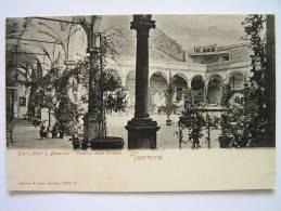 Cpa, Carte Primaire, Très Belle Vue, Taormina, Grand Hotel S. Domenico, Chiostro Della Ceriosa - Italie