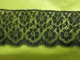 Dentelle Noire  Long  110 Cm X 4 Cm. - Laces & Cloth