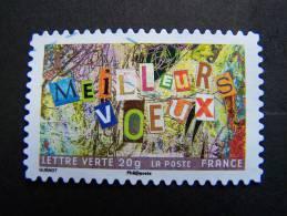 FRANCE OBLITERE 2012 N° 765  SERIE MEILLEURS VOEUX AUTOCOLLANT ADHESIF - France