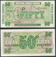 BRITISH ARMED FORCES 1972 50 NEW PENCE UNC -G - Andere