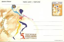 Turkey ; 2001 Postal Stationery - 5th Women´s Youth European Handball Championship - Postwaardestukken