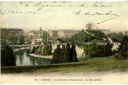 75 PARIS 19  LES BUTTES CHAUMONT LE BELVEDERE - Arrondissement: 19