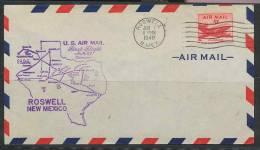 1002 - AVION (PLANE) POSTE AERIENNE (airmail) USA - Premier Vol (first Flight) - 1948 - ROSWELL AM 64 - 2c. 1941-1960 Lettres