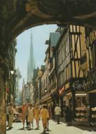 CPA 1011 CPM 76 Seine Maritime ROUEN Rue Du Gros Horloge Voute Animée Commerces Real Estel - Rouen