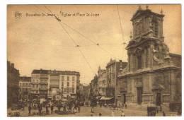 """Postkaart / Carte Postale """"Bruxelles - Eglise Et Place Saint Josse"""" - St-Josse-ten-Noode - St-Joost-ten-Node"""