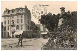 65 - Hautes Pyrénées / ARGELES - GAZOST -- Place De La Mairie Et Buste De Despourrins. - Argeles Gazost