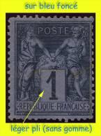N°83 GROUPE ALLÉGORIQUE SAGE TYPE II 1877 - SUR BLEU FONCÉ - NEUF SANS GOMME (LÉGER PLI) - 1876-1898 Sage (Type II)
