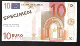10 € EURO *SPECIMENT *NON VALUE*TAILLE DU BILLET 130 X 70 *(FDS- NEUF)UNC-incirculatd - EURO