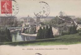 Paris - Buttes Chaumont - Belvédère - Parks, Gärten