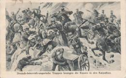 Deutsch Osterreich Ungarische. Truppen Besiegen Die Russen In Den Karpathen - Non Classés