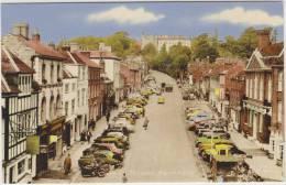 Farnham: 3x MOTORCYCLE, MG MAGNETTE, FORD CONSUL & POPULAR,OLDTIMER AUSTIN / MORRIS - Castle Street - Auto/Car- England - PKW