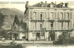 """Lourdes. Le Grand Hotel """"Beau Séjour"""" Avec Son """"café Riche""""et Restaurant Face à La Gare. Propriétaire Camps-Peyrouza. - Lourdes"""