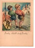Berlin Karrikatur Mit Wappen Kinder Pinkeln Sehr Alt Gezeichnet - Unclassified