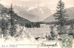 SUISSE VAL CHAMPEX ET LE GRAND COMBIN CARTE PRECURSEUR CIRCULEE 1903 - Suisse