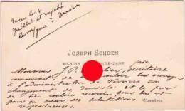 VERVIERS  JOSEPH SCHEEN VICAIRE à NOTRE DAME - Cartes De Visite