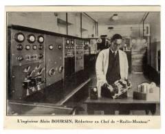/!\ #5509 - ALAIN BOURSIN - RADIO-MONTEUR Signée Par L'auteur - Andere Persönlichkeiten