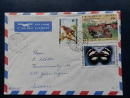 33/888   LETTRE   CAMEROUN - Schmetterlinge