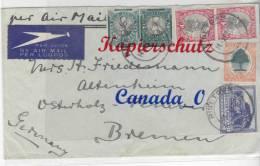 B  4  --    - Südafrike 14.4.1927  Mit Mi.# 21 C + 23 C  Nach Bremen - South Sudan