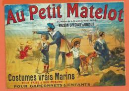V093, Au Petit Matelot, Costumes Marin , Paris,enfant,repro Litho De 1894, J 4, Non Circulée - Händler