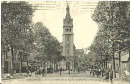 25 - PARIS - Avenue D'Orléans Et Église St-Pierre De Montrouge - Eglises