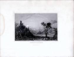 Burg Schrofenstein Tirol  - Gravur Auf Stahl Nach Thomas ALLOM - Gegen 1840 - Andere Sammlungen