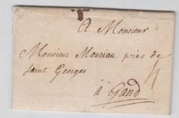 PRÉCURSEUR LETTRE 175 CONDE POUR GENT PORT 4 (sols) + GRIFFE CONDE A VOIR + TEXTE - 1714-1794 (Austrian Netherlands)