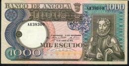 ANGOLA 108   1000 ESCUDOS    1973   XF NO P.h. !!! - Angola