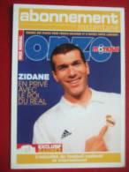 """FOOTBALL - """" ZIDANE """" - POUR UN ABONNEMENT POUR ONZE - - Football"""
