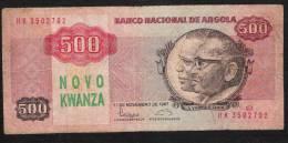 ANGOLA 123   NOVO  KWANZA   1987   UNC. - Angola