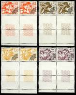 PREOBLITERES CHAMPIGNONS X 2 AVEC BORD DE FEUILLE 158 159 160 161  1979 - 1964-1988