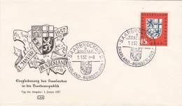 MARCOPHILIE , SAAR, 1957  COVER LETTRE,  FDC, Mi 379/ 4044 - [7] République Fédérale