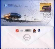 2009 - STATION POLAIRE Princesse ELISA.Oblitéré 2 X Inauguré Le 15 Février-BRUXELLES LE 20-3- A La StatitionTRES LIMITE. - FDC
