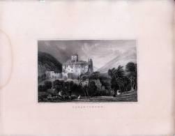 Burg Dornsberg Hieß Eigentlich Burg Tarantsberg  - Gravur Auf Stahl Nach Thomas ALLOM - Gegen 1840 - Andere Sammlungen