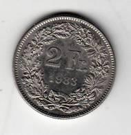 Pièce - Suisse - 2 Francs - 1983 - Svizzera